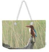 White Throated Kingfisher Weekender Tote Bag