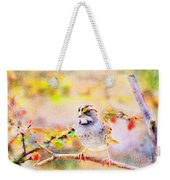 White Throated Sparrow - Digital Paint 1                                             Weekender Tote Bag