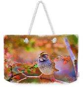 White Throated Sparrow - Digital Paint 3 Weekender Tote Bag
