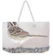 White-throated Sparrow Looking Skyward Weekender Tote Bag
