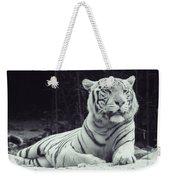 White Tiger 16 Weekender Tote Bag