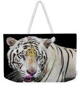 White Tiger Closeup Weekender Tote Bag