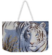 White Tiger - Crystal Eyes Weekender Tote Bag by Crista Forest