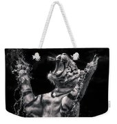 White Tiger Featured In Greece Exhibition Weekender Tote Bag