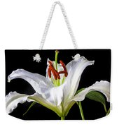 White Tiger Lily Still Life Weekender Tote Bag by Garry Gay