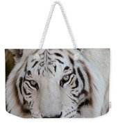White Tiger Portrait Weekender Tote Bag