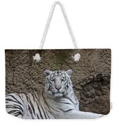 White Tiger Resting Weekender Tote Bag