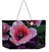 White Tip Pink Tulip Weekender Tote Bag