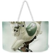 White Toy Horse Weekender Tote Bag