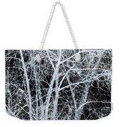 White Tree Black Night Weekender Tote Bag