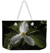 White Trillium Weekender Tote Bag