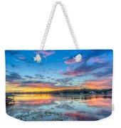 White Trout Lake Sunset - Tampa, Florida  Weekender Tote Bag