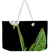White Trout Lily Weekender Tote Bag
