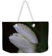 White Tulip Macro Weekender Tote Bag