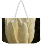 White Tulip With Texture Weekender Tote Bag