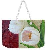 White Tulips Weekender Tote Bag by Phyllis Howard