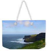 White Water At The Base Of The Cliff's Of Moher Weekender Tote Bag
