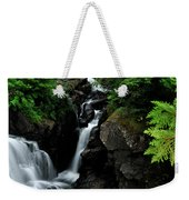 White Water Black Rocks Weekender Tote Bag
