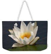 White Waterlily 1 Weekender Tote Bag