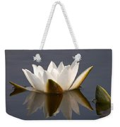 White Waterlily 2 Weekender Tote Bag
