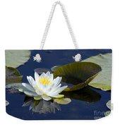 White Waterlily Weekender Tote Bag