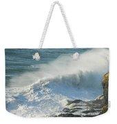 White Wave Sprays Weekender Tote Bag
