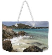 White Waves Crashing Weekender Tote Bag