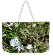 White Wild Flower Weekender Tote Bag