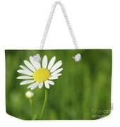 White Wild Flower Spring Scene Weekender Tote Bag
