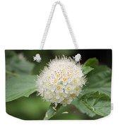 White Wild Flower Weekender Tote Bag