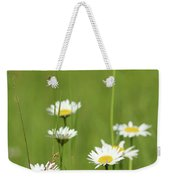 White Wild Flowers Nature Spring Scene Weekender Tote Bag