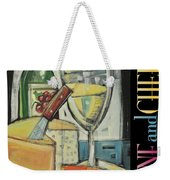 White Wine And Cheese Poster Weekender Tote Bag