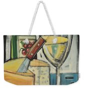 White Wine And Cheese Weekender Tote Bag