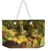 White Wine And Grape In Vineyard Weekender Tote Bag