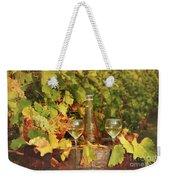 White Wine And Vineyard Autumn Season Weekender Tote Bag