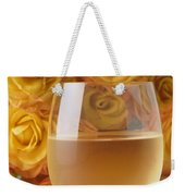 White Wine And Yellow Roses Weekender Tote Bag