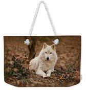 White Wolf Weekender Tote Bag
