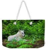 White Wolfe Weekender Tote Bag