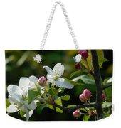 White Woodland Crabapple Flowers Weekender Tote Bag