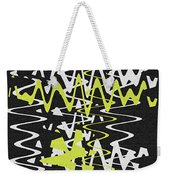 White Yellow On Black Weekender Tote Bag