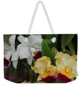 White Yellow Orchids Weekender Tote Bag