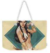 Whitefeather V.2 Weekender Tote Bag by Brandy Woods