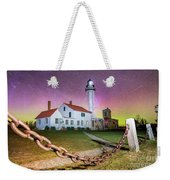 Whitefish Point Lighthouse   Northern Lights -0524 Weekender Tote Bag