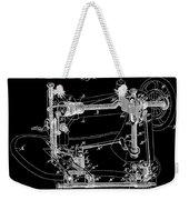 Whitehill Sewing Machine Patent 1885 Black Weekender Tote Bag