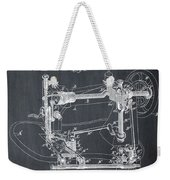 Whitehill Sewing Machine Patent 1885 Chalk Weekender Tote Bag