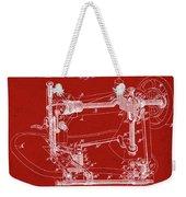 Whitehill Sewing Machine Patent 1885 Red Weekender Tote Bag