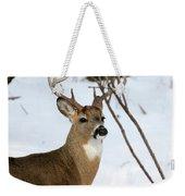 Whitetail Buck Profile Weekender Tote Bag