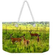Whitetail Deer Family Weekender Tote Bag