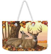 Whitetail Deer - Hilltop Retreat Weekender Tote Bag by Crista Forest