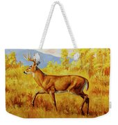 Whitetail Deer In Aspen Woods Weekender Tote Bag by Crista Forest